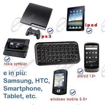Tastiera wireless bluetooth per smartphone android o - Smartphone con tasti ...