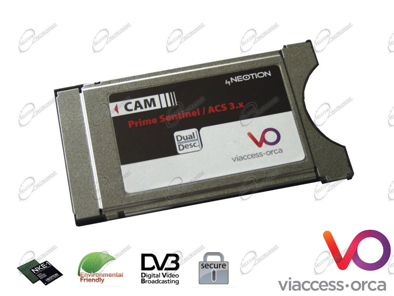 CAM VIACESS ORCA È MODULO COMMON INTERFACE CW64 PER SCHEDE SMARTCARD PER DECODIFICARE CANALI TV VIACESS 6.0