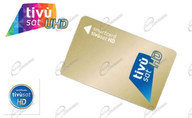 TIVUSAT HD CON SCHEDA GOLD È PER VEDERE I CANALI RAI E MEDIASET TRASMESSI  IN HD E 4K DAL SATELLITE