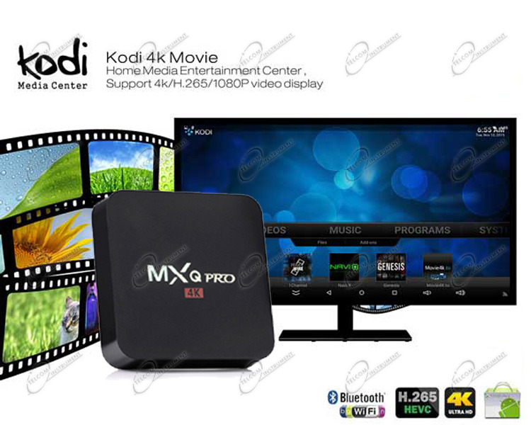 MXQPRO S905X È ANDROID TV BOX 4K PER IPTV: MXQPRO UHD È BOX MULTIMEDIA WIFI, IPTV STREAMING, DLNA, YOUTUBE E FILM MKV X265