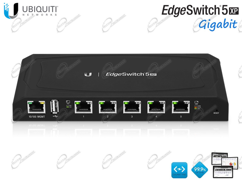 SWITCH DI RETE 5 PORTE INTELLIGENTE � UBIQUITI TOUGHSWITCH 5-PORT POE, PER LA CONNESSIONE DI RETE GIGABIT DI 5 DISPOSITIVI VIA CAVO ETHERNET E ALIMENTAZIONE POE