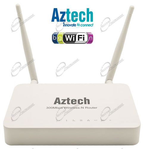 IL ROUTER WIFI È UN ACCESS POINT DI AZTECH, PER IRRADIARE IN MODALITÀ WIRELESS INTERNET NEGLI INTERNI, CON 4 PORTE DI RETE.