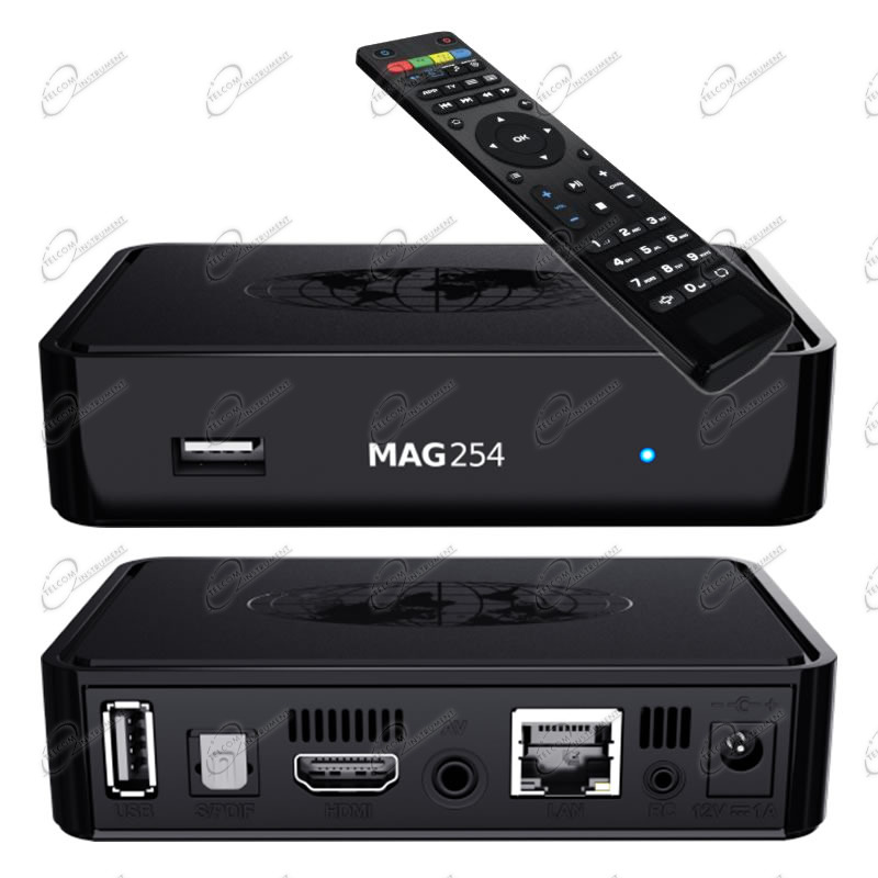 INFOMIR MAG254 È UN IPTV BOX MULTIMEDIALE, SPECIALIZZATO PER VEDERE LA IPTV E ALTRI CONTENUTI TV E VIDEO IN STREAMING ONLINE.