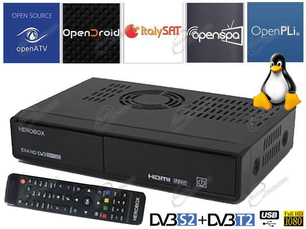 ENIGMA2 LINUX È DECODER HD HEROBOX EX4 CHE PER I SERVIZI ON LINE, COME LA  IPTV, È WIRELESS