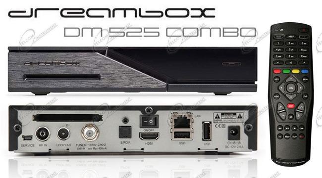 DECODER DREAMBOX DM525 COMBO HD: RICEVITORE DM525HD HA TUNER DREAM BOX E  SUPPORTA IPTV HEVC