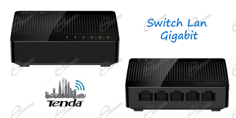 SWITCH GIGABIT TENDA SG105 È SWITCH DI RETE LAN ETHERNET CON 5 PORTE GIGABIT