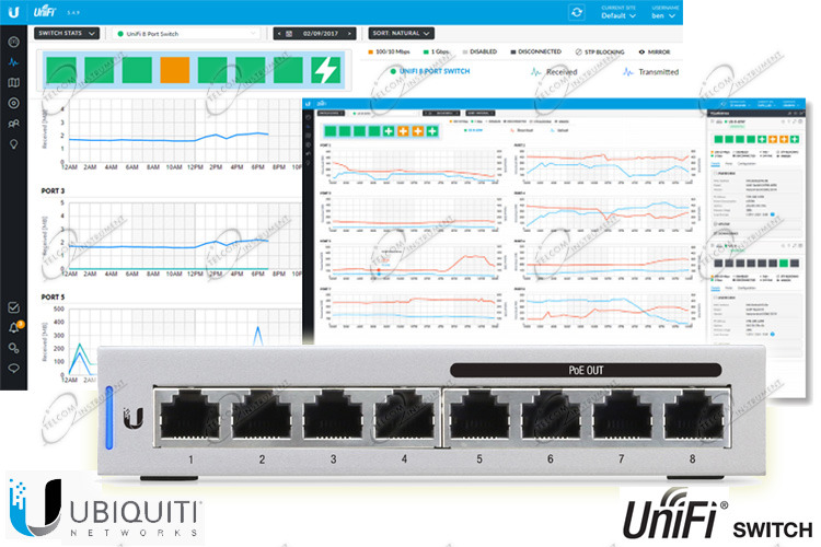 UNIFI SWITCH US-8-60W CON 8 PORTE LAN GIGABIT: UBIQUITI SWITCH UNIFI HA 4 PORTE DI RETE AD ALIMENTAZIONE POE 802.3AF