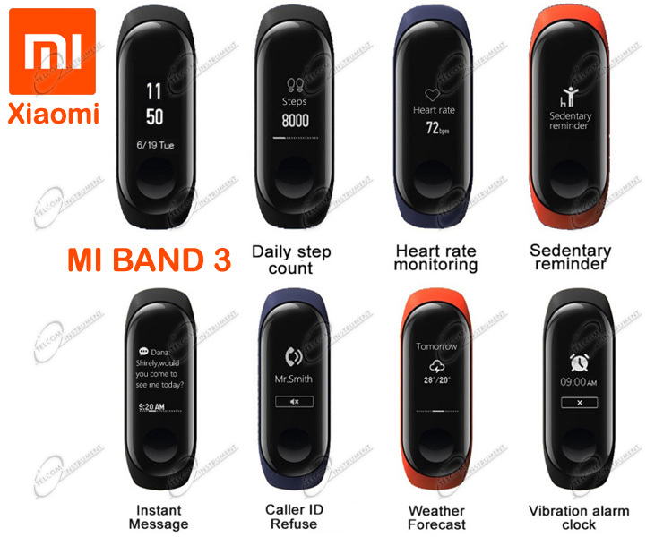 SMARTWATCH XIAOMI MI BAND 3 È OROLOGIO DA POLSO: MI BAND3 XIAOMI HA DISPLAY OLED, FITNESS TRACKER, NOTIFICA TESTI