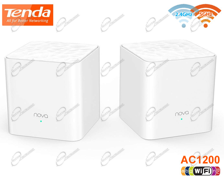 AMPLIFICATORE WIFI RANGE EXTENDER AC MESH TENDA: RIPETITORE WIRELESS GIGABIT DUAL BAND PER CONNESSIONE INTERNET IN CASA