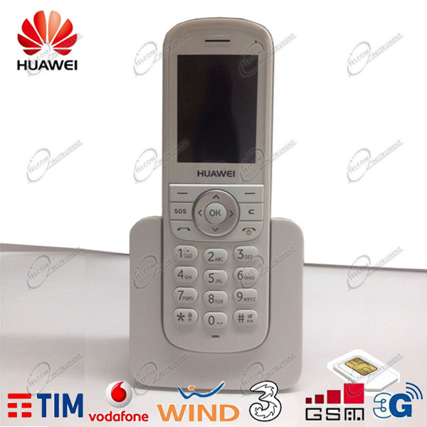 TELEFONO CORDLESS HUAWEI ETS3 PER SCHEDE SIM 3G GSM DEL CELLULARE: TIM VODAFONE WIND TRE POSTE