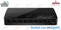TENDA SG108 È SWITCH DI RETE GIGABIT X8 PORT: SWITCH LAN ETHERNET DI RETE  HA 8 PORTE GIGABIT 10/100/1000