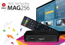 È IL MAG256 PER VEDERE LA IPTV IN STREAMING SU SMART TV, CON INTERNET E MAC: MAG 256 È BOX MULTIMEDIALE HD X265 E IPTV