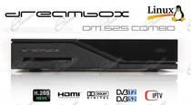 DECODER DREAMBOX DM525 COMBO HD: RICEVITORE DM525HD HA TUNER DREAM BOX E SUPPORTA IPTV HEVC.