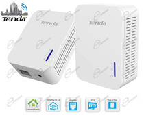 KIT POWERLINE TENDA AV1000 COMPOSTO DA DUE HOMEPLUG POWER LINE DI RETE LAN GIGABIT VELOCITÀ FINO A1000 MBPS