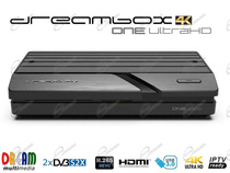 DREAMBOX ONE UHD DECODER SATELLITARE 4K CON: TUNER DVB-S2X, CONNESSIONE WIFI DUAL BAND, SUPPORTA IPTV E HEVC